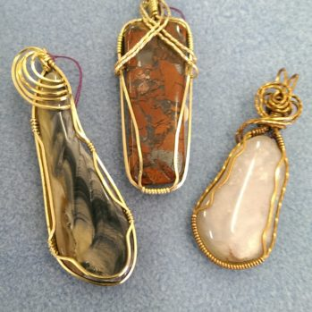 Wire Wrapped Cabochon Pendants