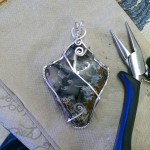 Sterling Silver Tumbled Big Diggins Slab Pendant