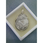 Sterling Silver Mexican Crazy Lace Pendant 2