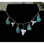 Shark Tooth and Turquoise Necklace