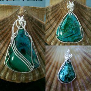 jewelry, custom jewelry, chrysocolla, chrysocolla jewelry, wire wrapped, wire wrapped jewelry